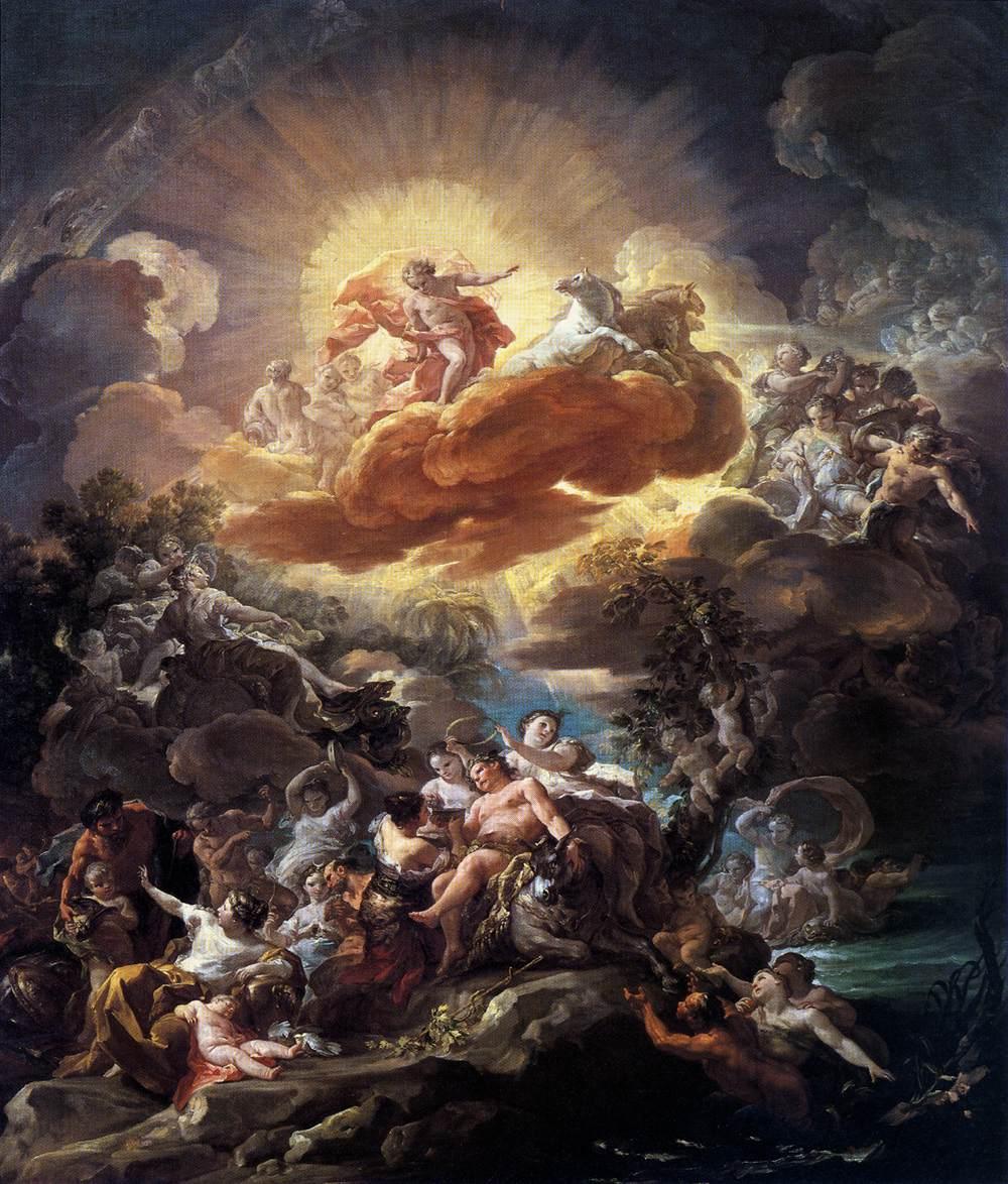 Nacimiento del Sol y el triunfo de Baco, de  Giaquinto Corrado .