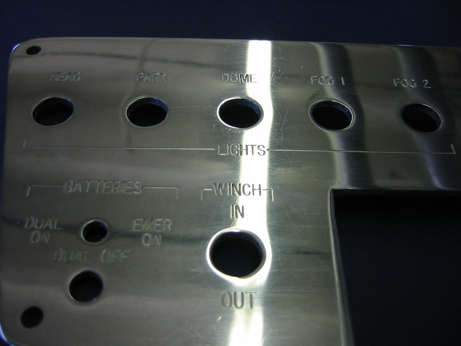 Engraved Dash Panel