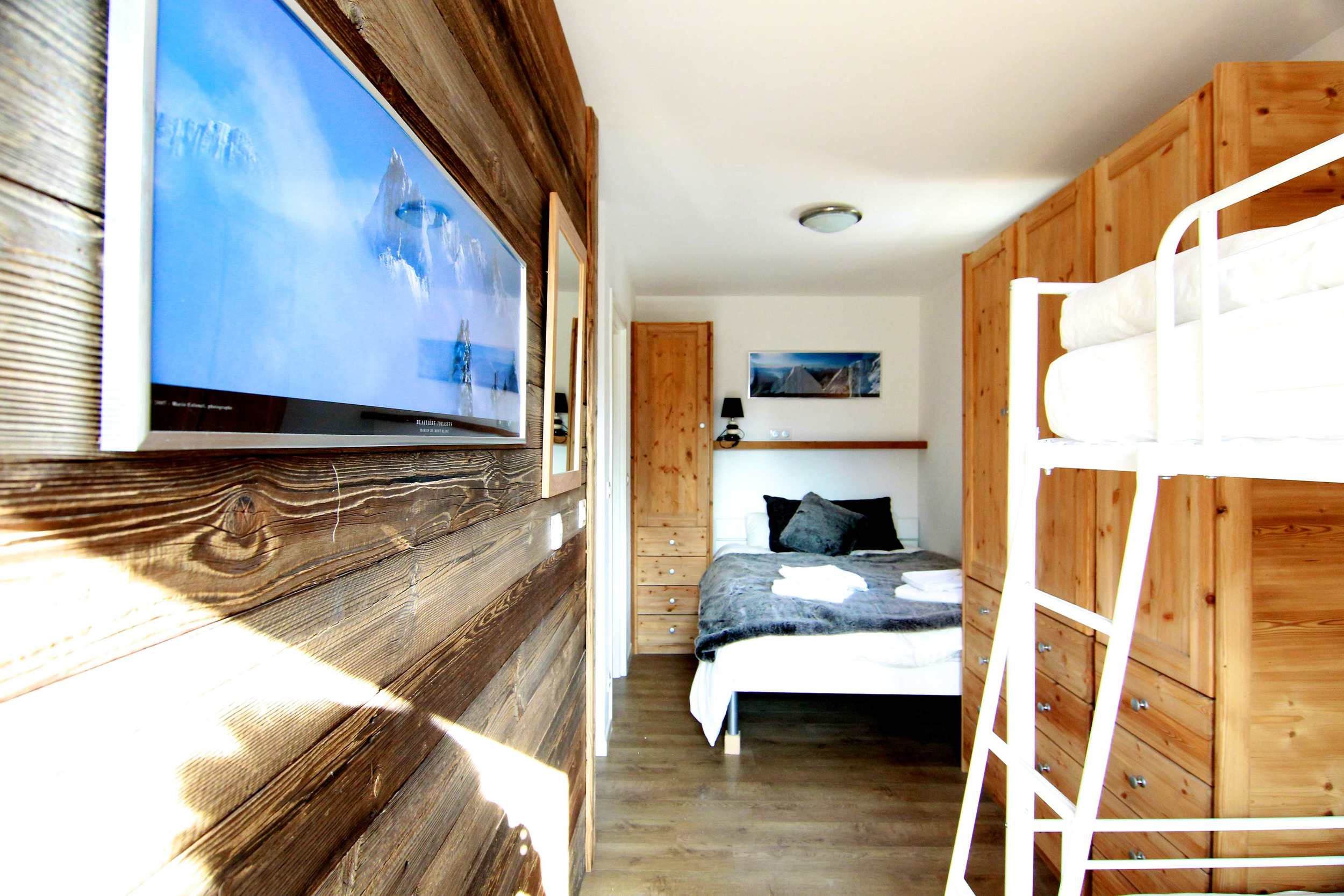 SNOWSPA CHALETS CHAMONIX- Ski Chalet Family bedroom Sleeps 2.jpg