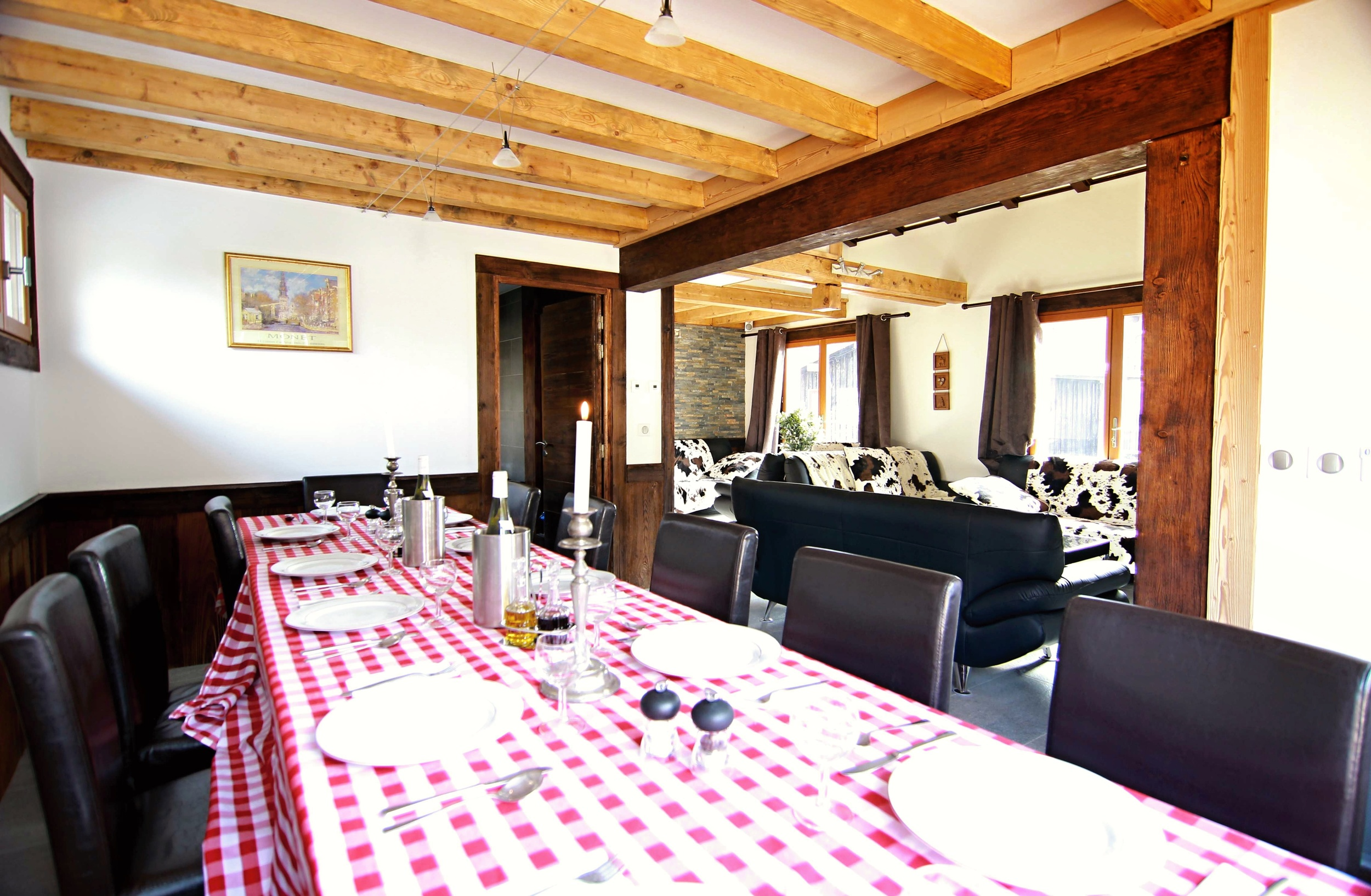SNOWSPA CHALETS CHAMONIX- Ski Chalet Dining room Lounge with.jpg