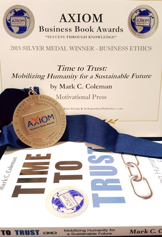 "2015 silver medal winner, ""Business Ethics"" category, Axiom business books awards"