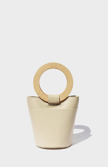 Modern Weaving's    Mini Wood Circle Handle Bucket. Modern art for your arm.