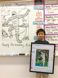 The art lesson theme is the birthday girl/ boy's choice.
