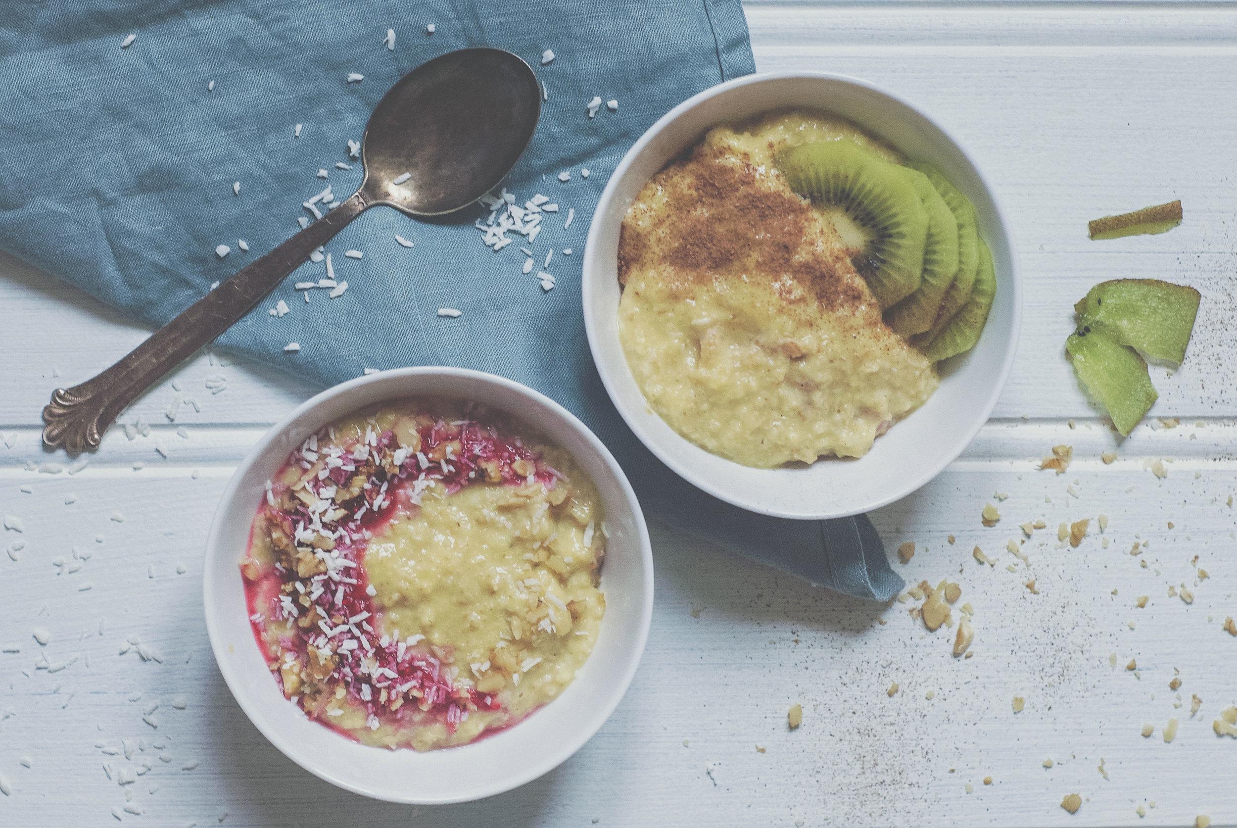 Mettende måltid.  Havregrøt med egg gir deg et måltid som metter lenger den den tradisjonelle havregrøten.