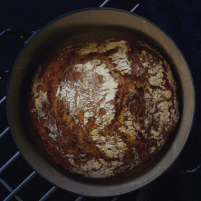 Det blir nok av julekaker og julemat framover - vi trenger noen gode brødmåltider også! I helga skal jeg kose meg med nybakt, eltefritt grovbrød 🤤😀 Kan anbefales om du allerede er litt lei julematen eller bare vil spise veldig godt brød 😉 Link til oppskrift i profilen.  #brød #grovbrød #eltefritt #brodogkorn #grytebrød #frokost #kosthold #suntkosthold #nybakt #bake #bread #breakfast