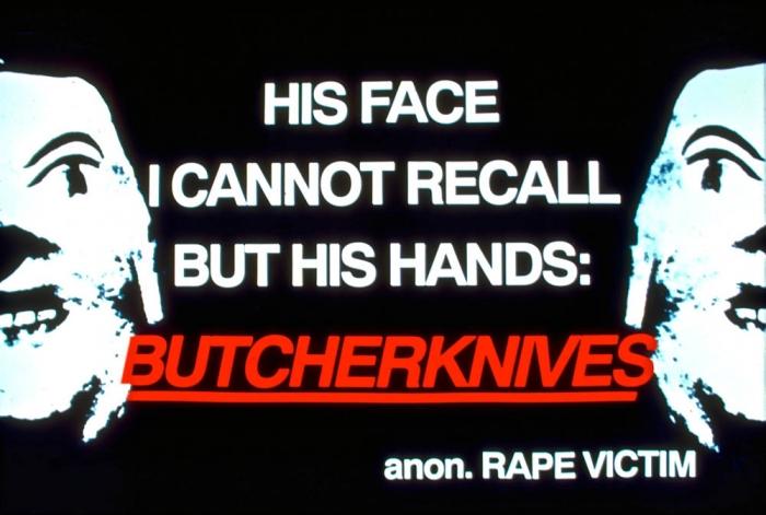 mockup for butcherknives, street poster, 1991