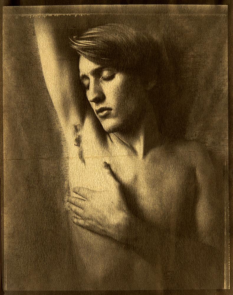 Blake/Tina circa 1921 gilded platinum print on vellum