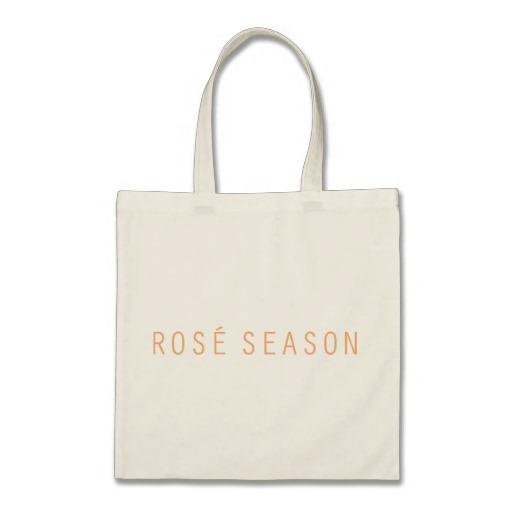 ROSÉ SEASON TOTE BAG - $15.95