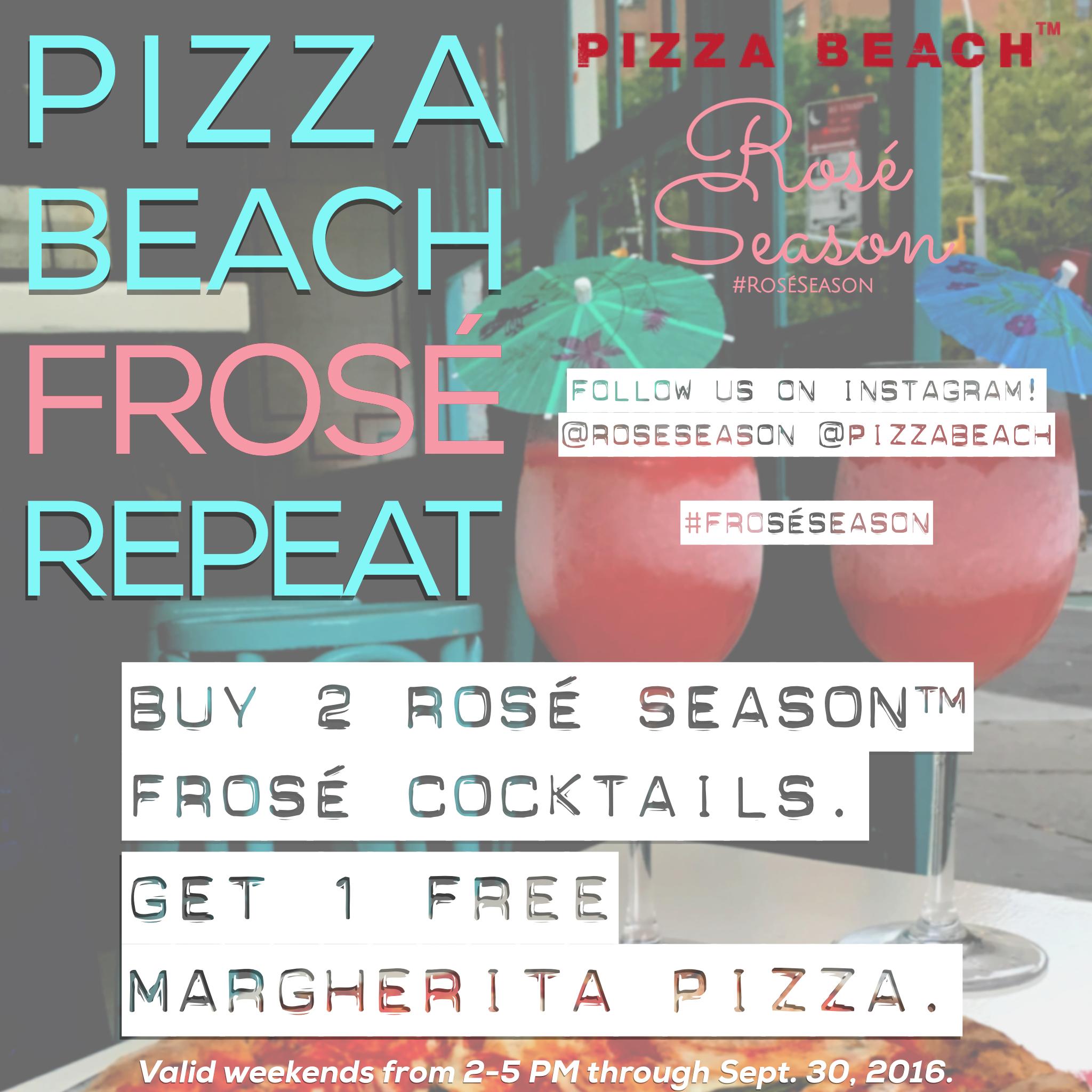 Frosé Season at Pizza Beach