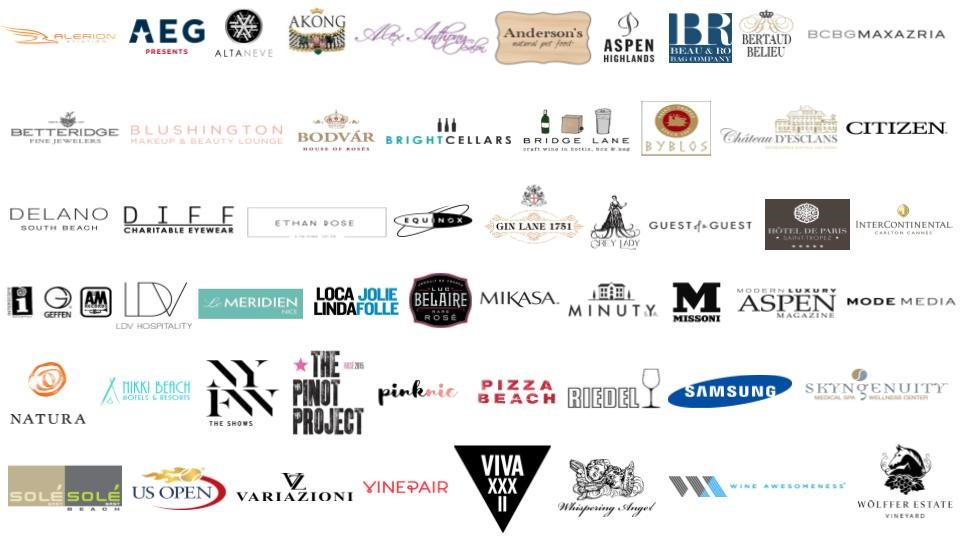 Rosé Season - Select Clients Brands and Partners - Influencer Marketing and Consulting