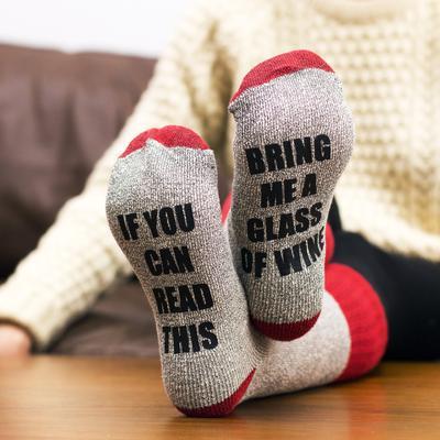 Bring Me Wine Socks - $12