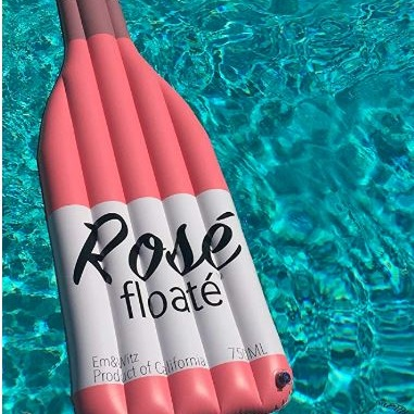 rose wine pool floats