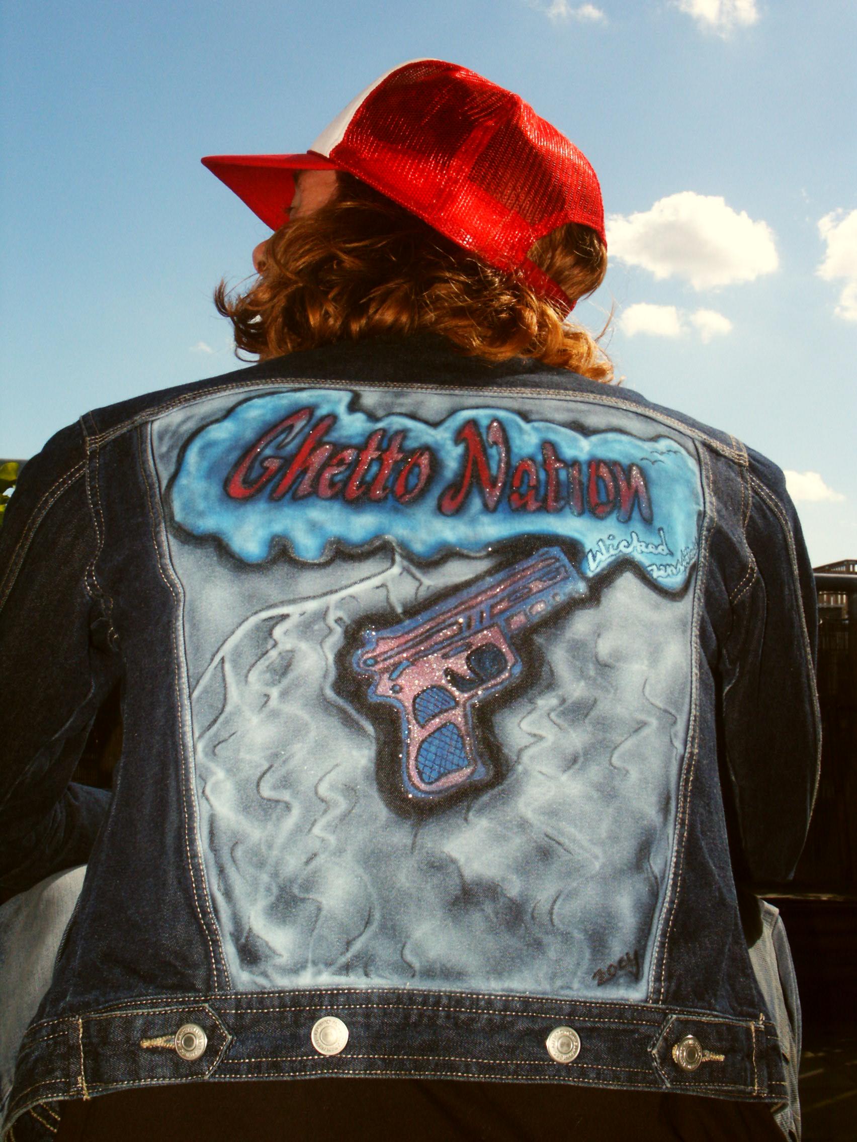 Airbrushed jacket Ghetto Nation