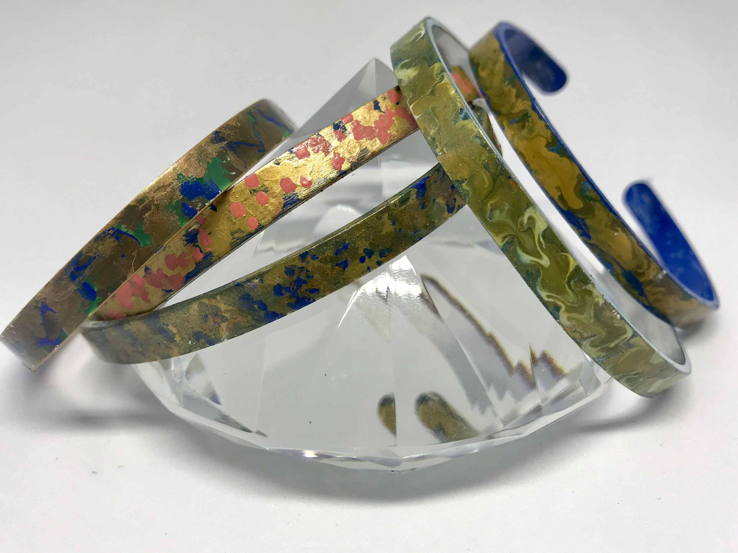 Handmade metal cuffs/bracelets - More to come