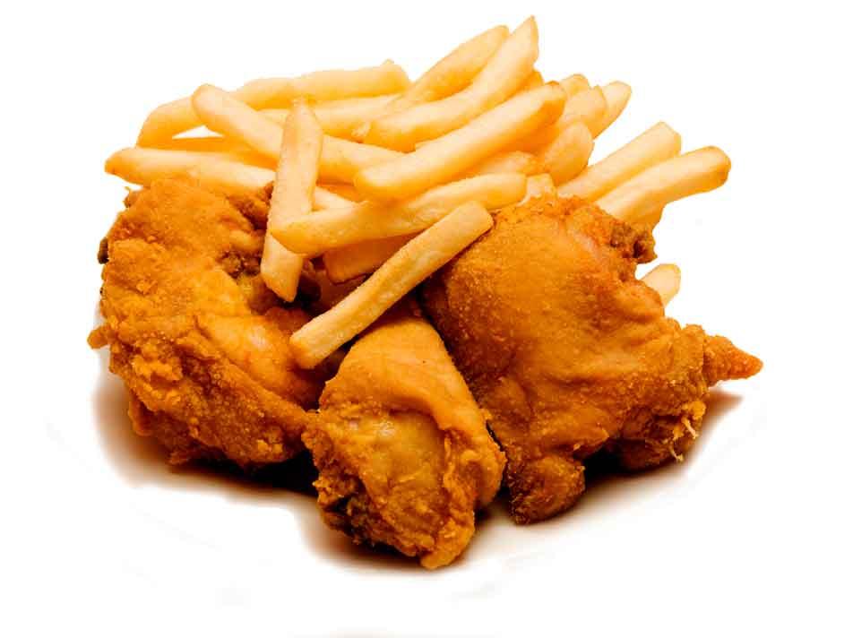 3 Piece Fried Chicken w/Fries