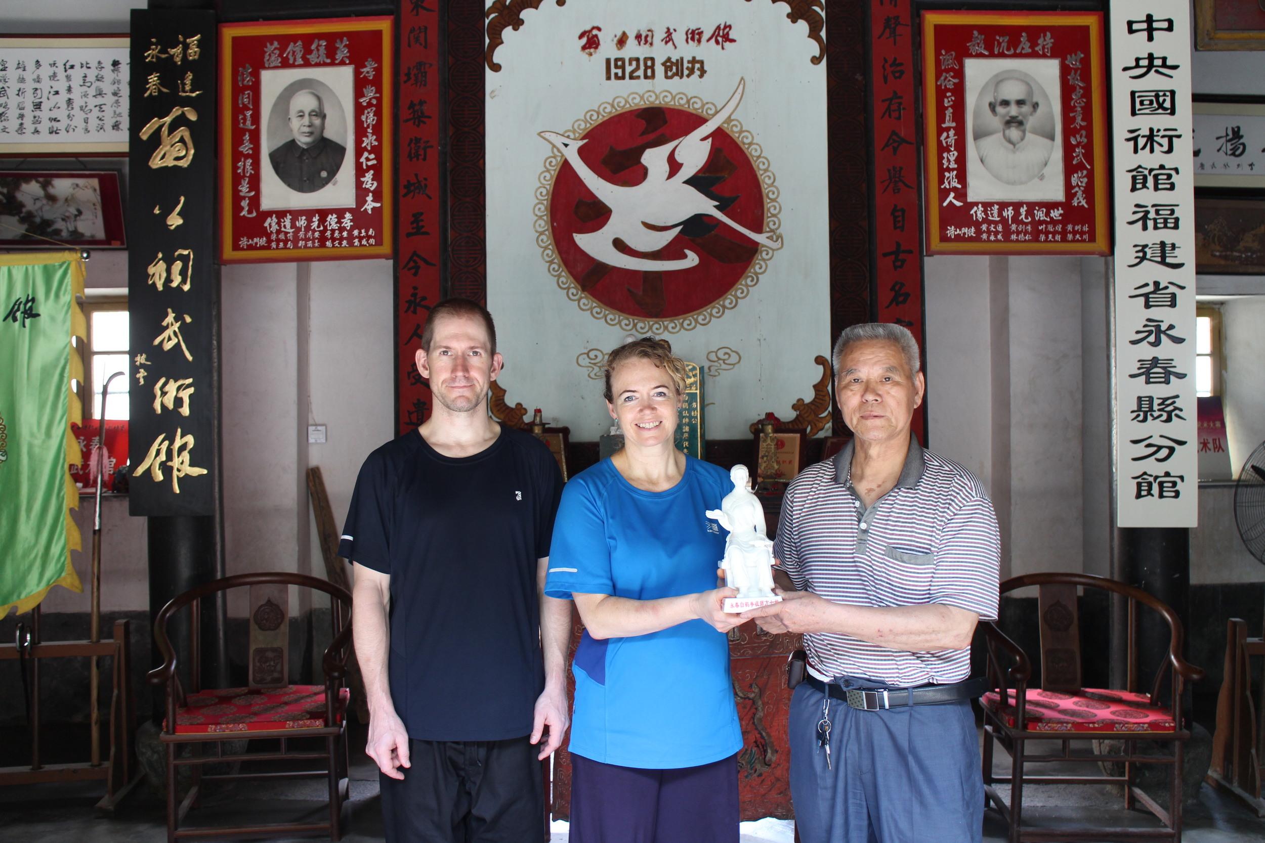 With Master Pan Cheng Miao in Yong Chun