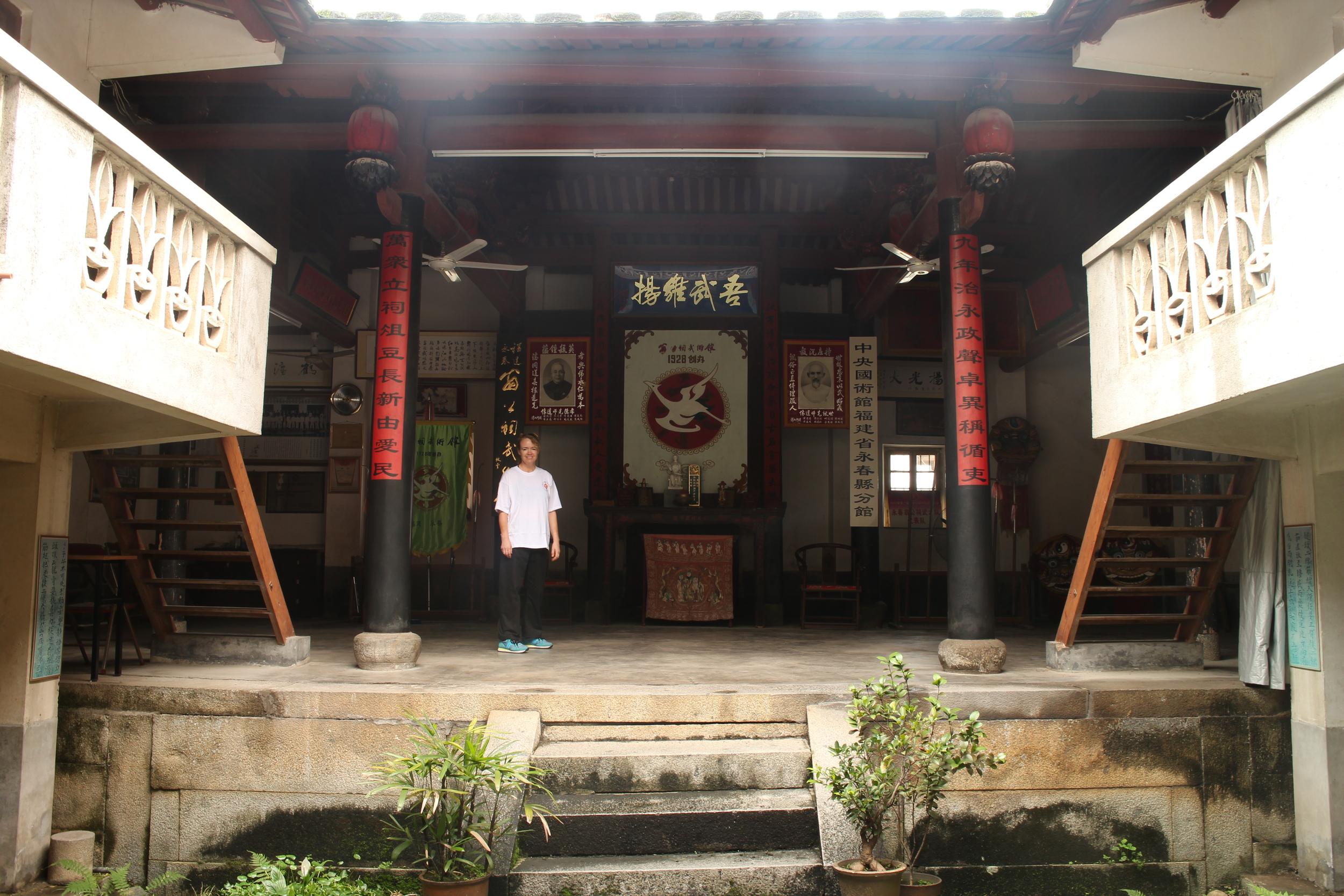 The Weng Gong Ci Martial Gym in Yong Chun