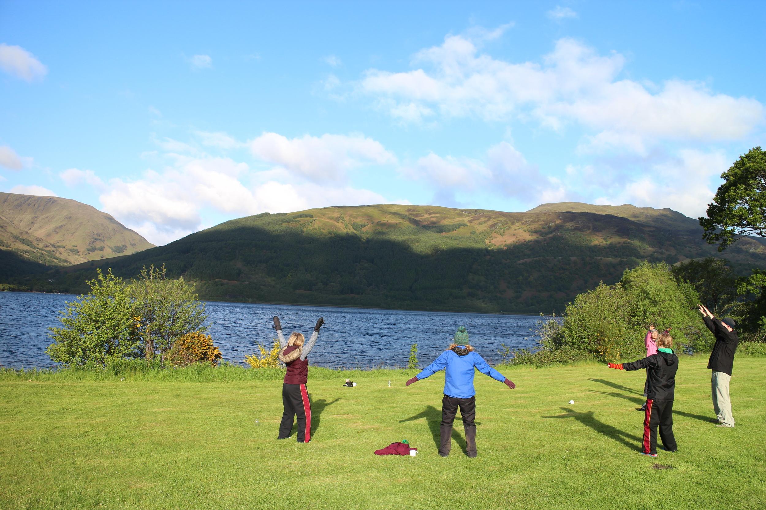 Morning Qi Gong at Loch Lomond