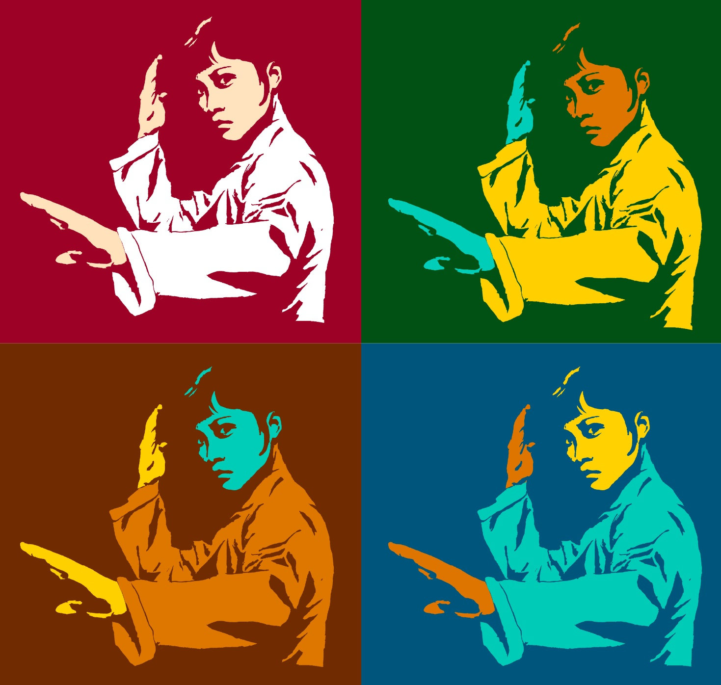 Kung Fu Woman Andy Warhol Design