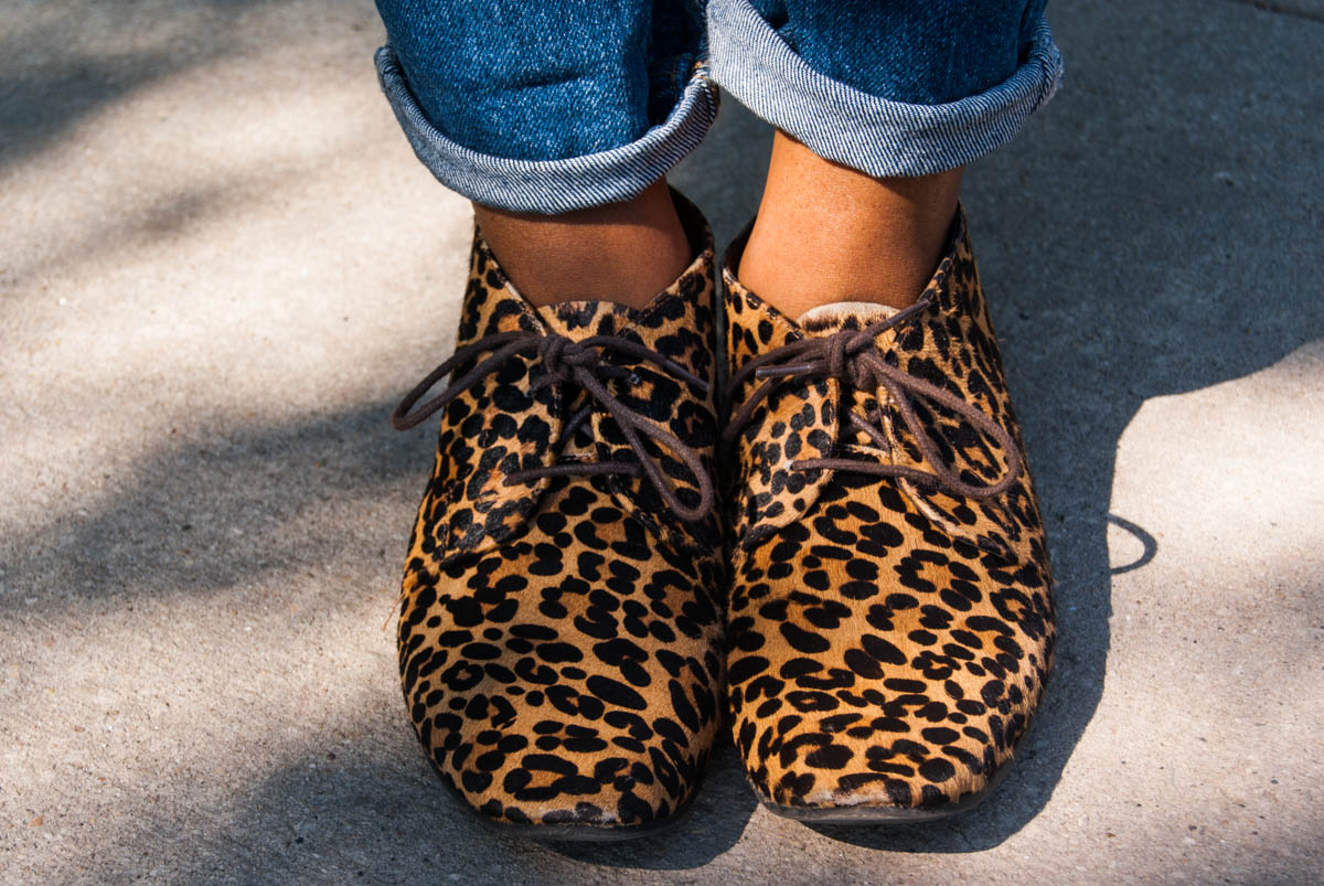 Leopard print loafers from Gap