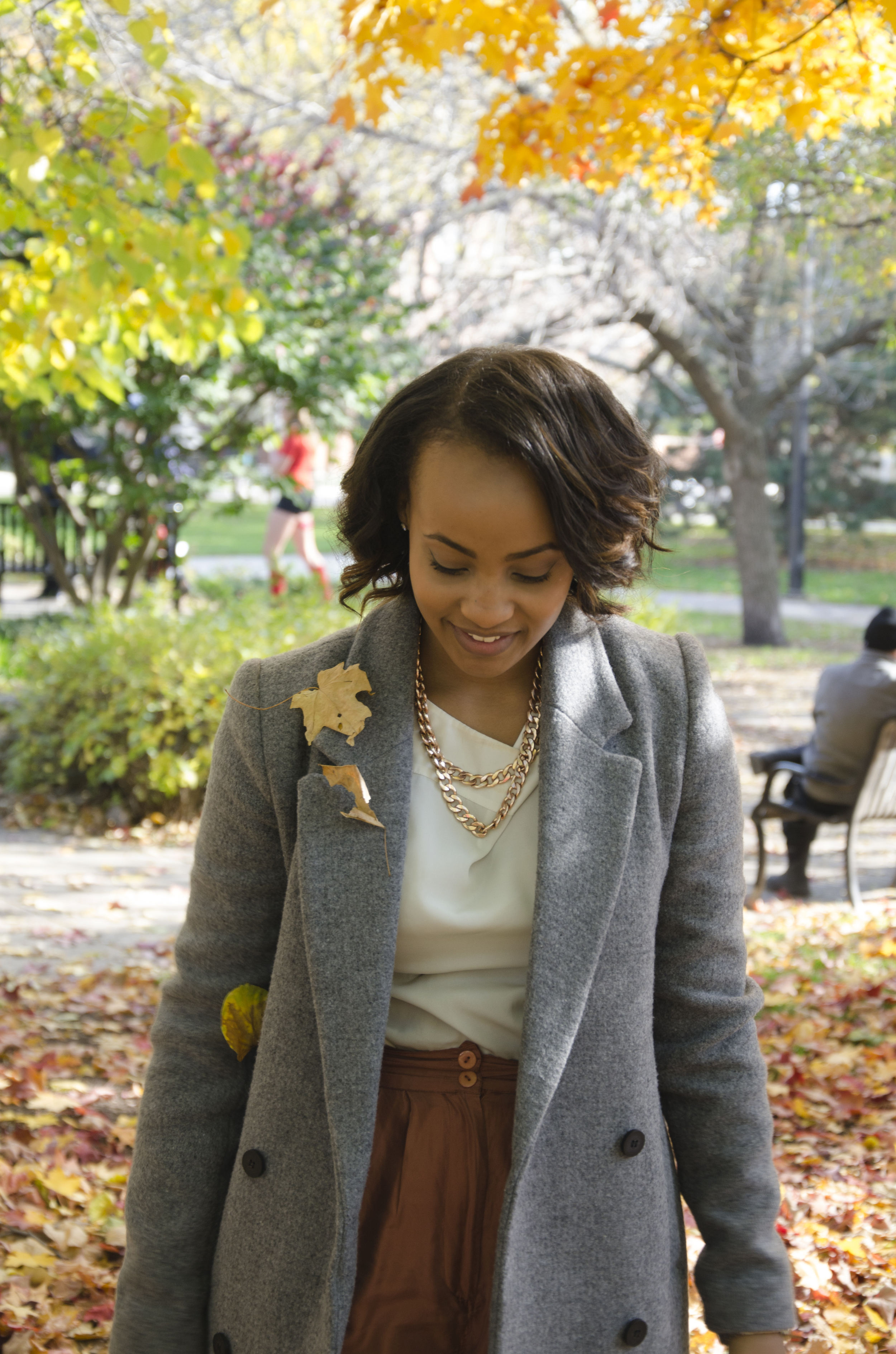 Necklace:Baublebar /Shirt: Thrifted/Pants: Diane Gilman (thrifted)/Coat: Zara