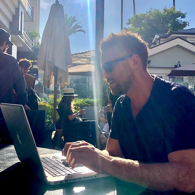 Coffees and laptops - - - #afm2018 #afm #workation #film #california #la
