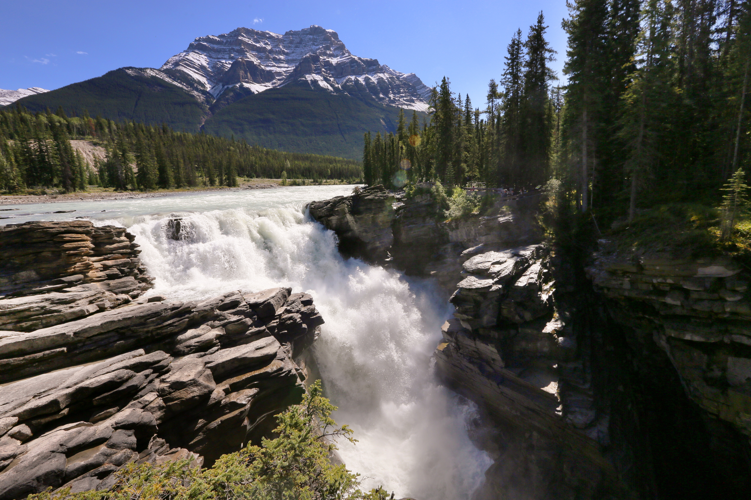 Athabasca Falls  (above) Sunwapta Falls  (bellow)