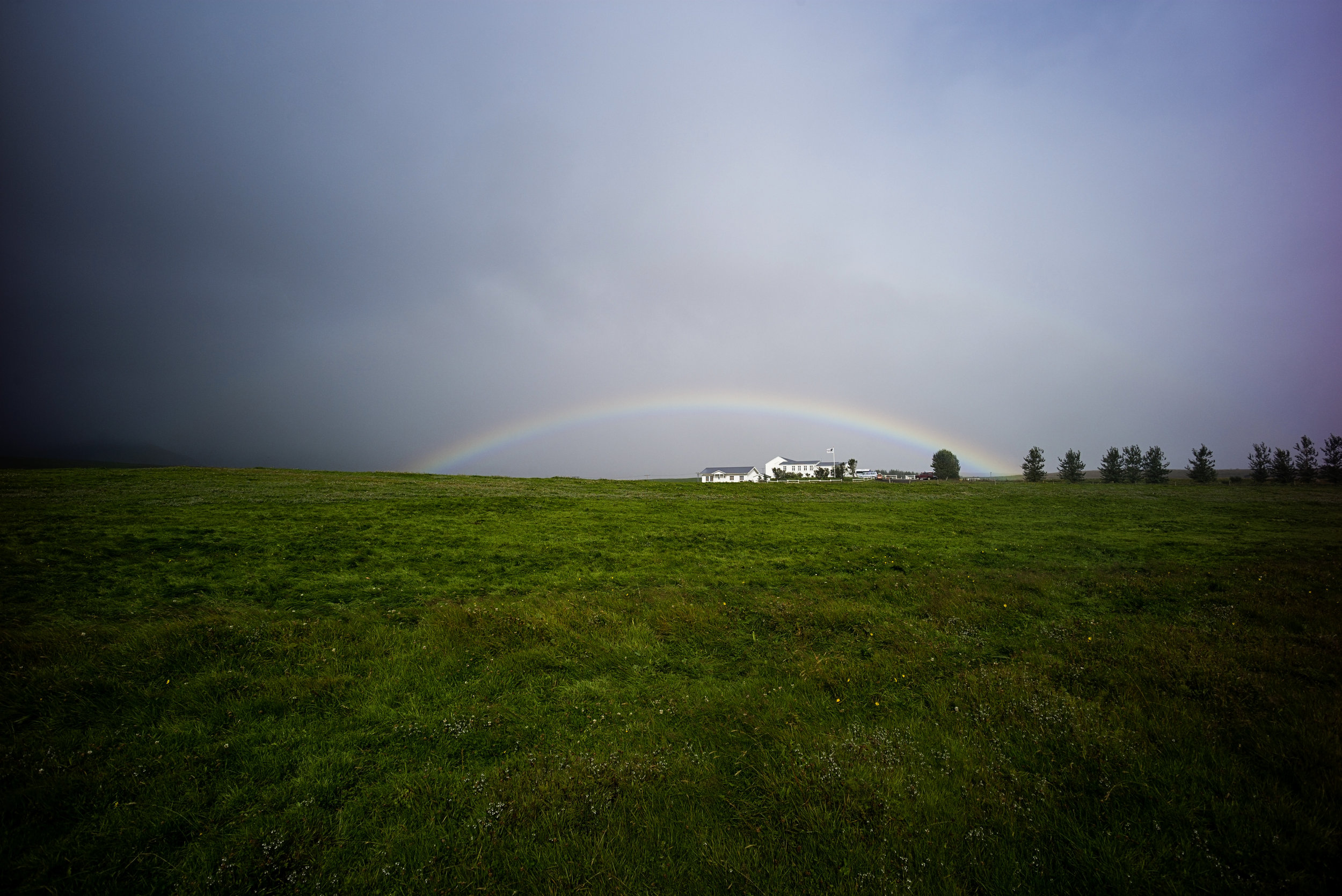 Perfect rainbow over   Laxnes Horse Ranch