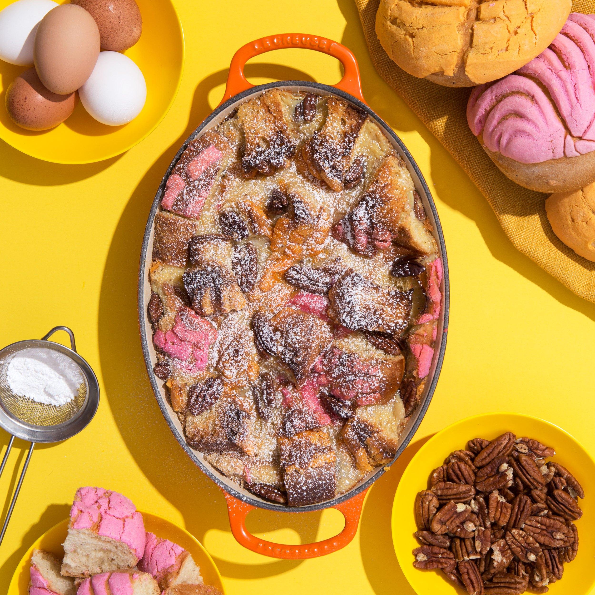 Concha Bread Pudding -  View the Recipe Here