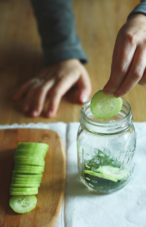 Filling the Vodka Jar