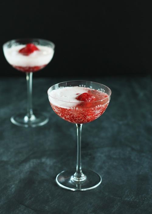 Raspberry Sorbet & Prosecco