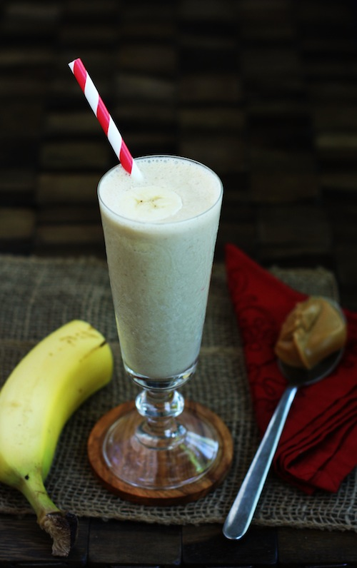 Peanut Butter Banana Smoothie with Wheat Germ