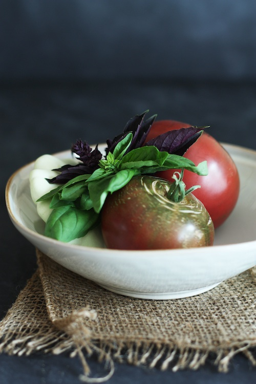 Homegrown Tomatoes & Basil :: Set the Table