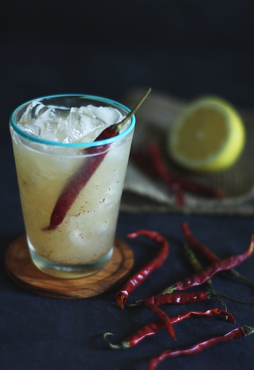 The Smokey Spicy Lemon Cocktail Recipe :: Set the Table