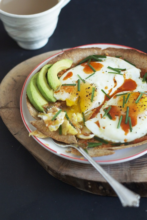 Fried Eggs, Crispy Tortilla, Salsa, Avocado :: Set the Table