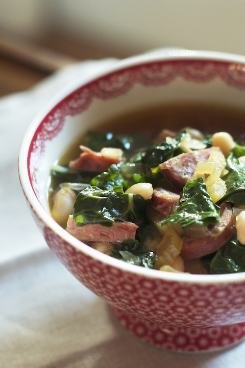 Slow Cooker White Bean Soup Recipe :: Set the Table