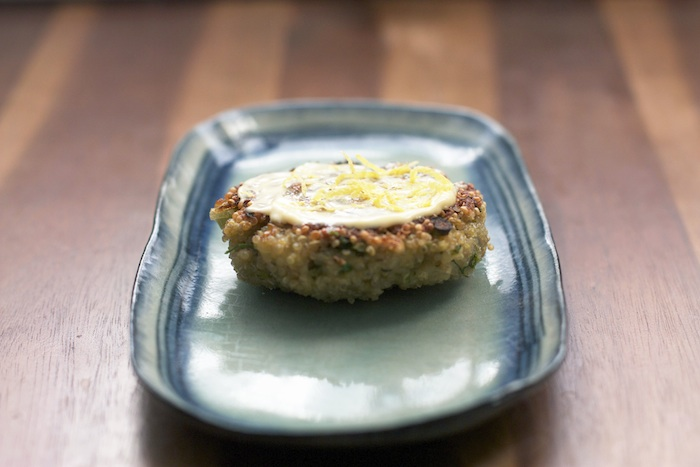 Quinoa Patty & Lemony Mayo | Set the Table