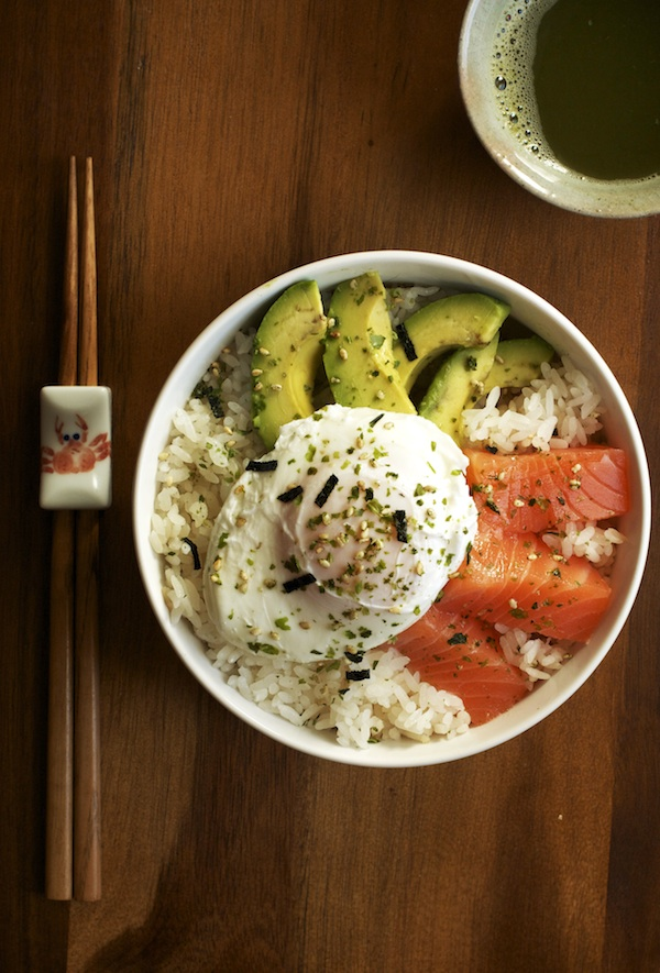 Salmon, Avocado & Egg Rice Bowl | Set the Table