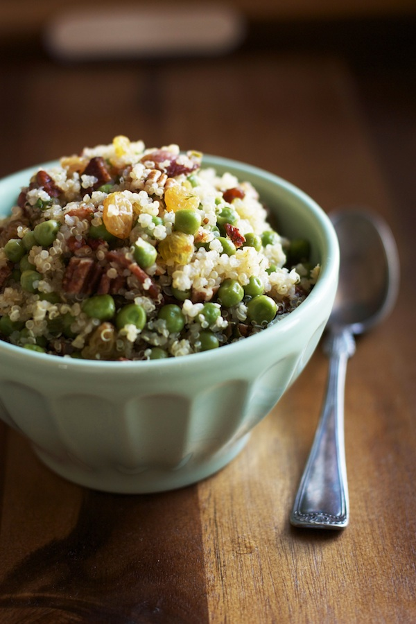Quinoa Salad with Lemon, Herbs & Bacon | Set the Table
