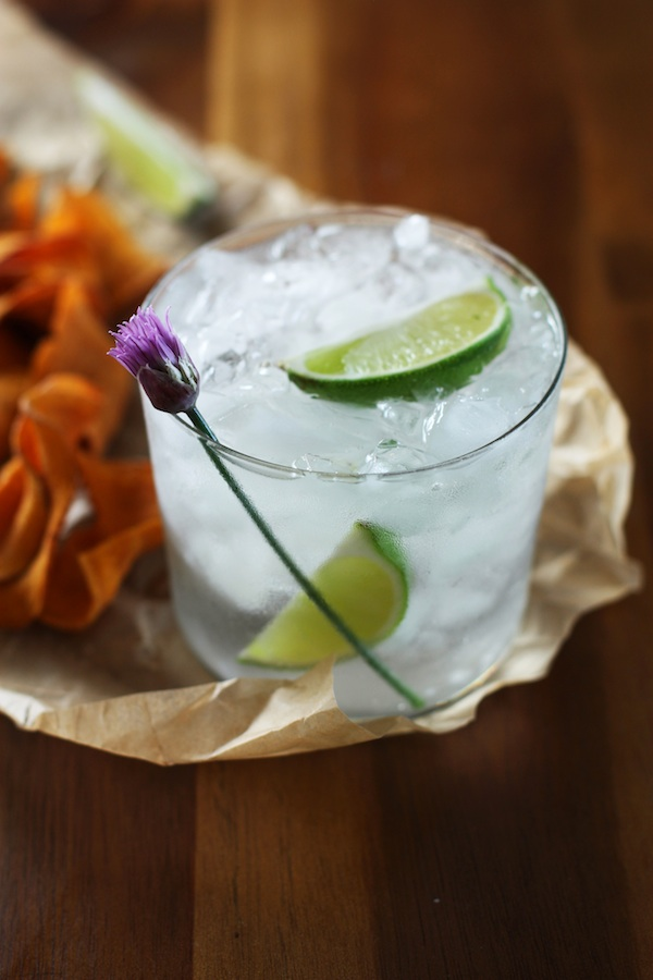 gin & tonic with chips | Set the Table
