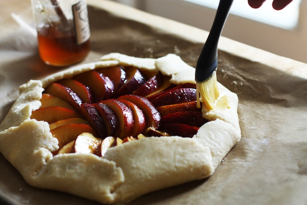 Rustic Nectarin Tart with Honey | Set the Table