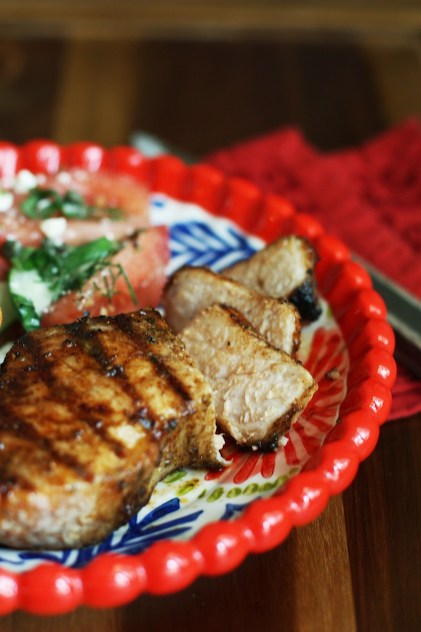 Dry Rubbed Grilled Pork Loin Chops | Set the Table