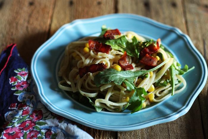 Summer Sweet Corn Carbonara Recipe   Set the Table