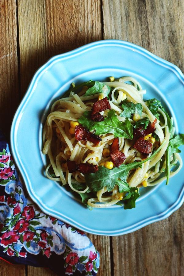Sweet Corn Carbonara   Set the Table