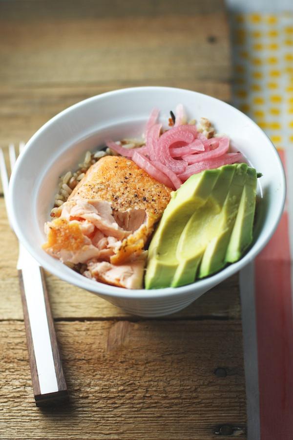 Whole Grain Salmon Bowl with Avocado | Set the Table