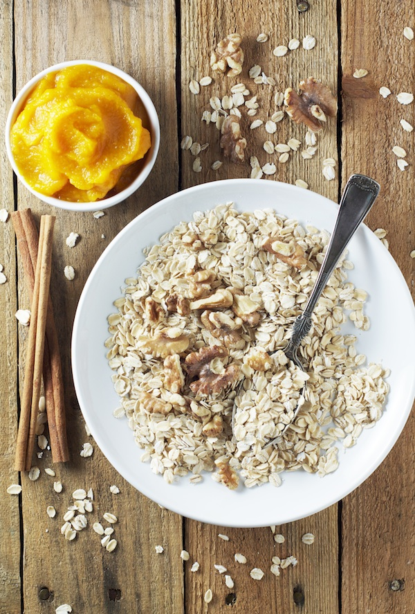 Pumpkin Spice Oatmeal Ingredients | Set the Table