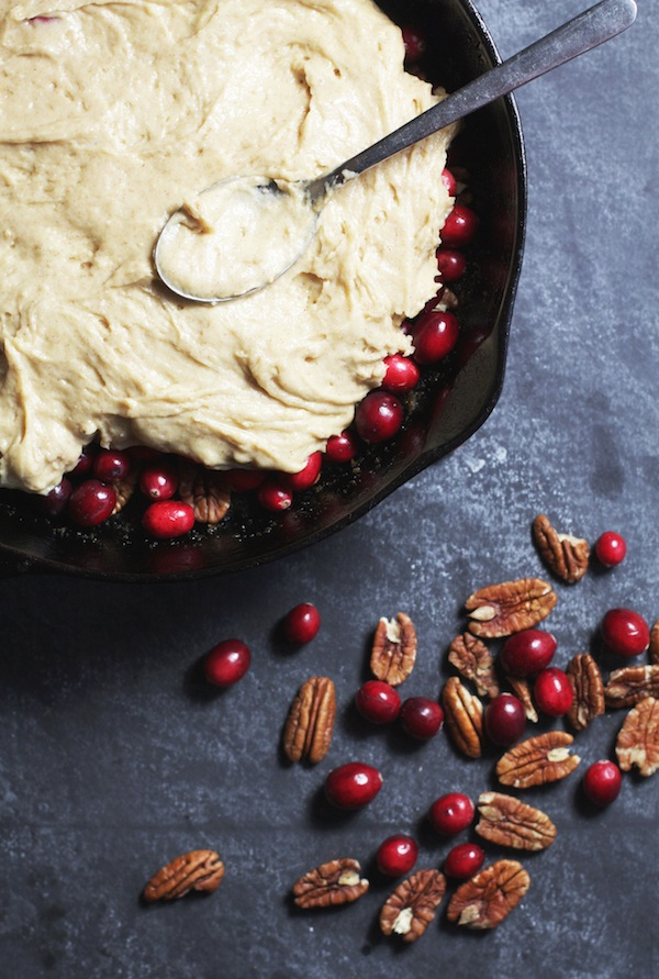 Cranberry-Pecan Upside Down Cake | Set the Table