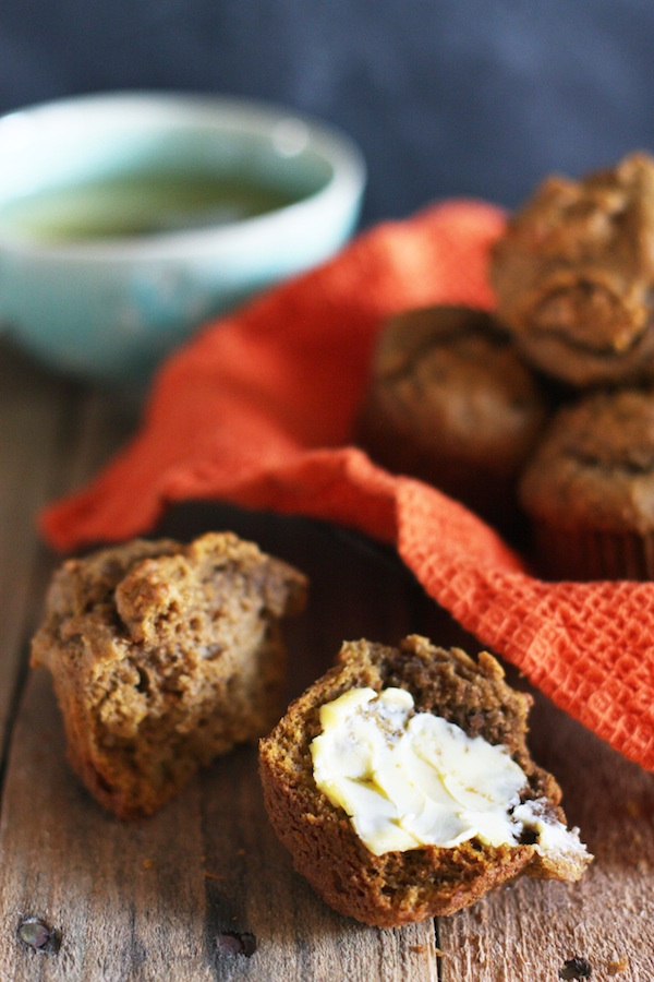 Olive Oil Pumpkin Muffins | Set the Table