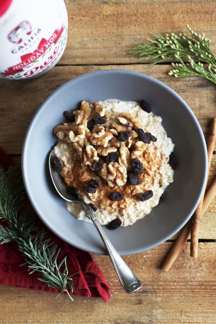 Eggnog Overnight Oats | Set the Table