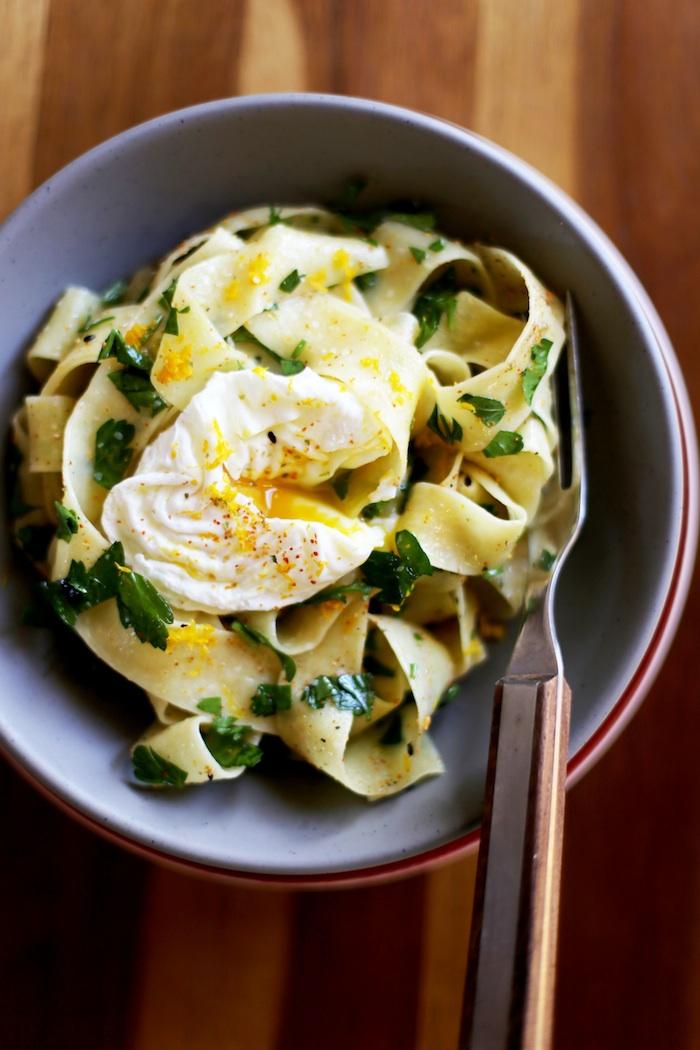 Papardelle with Poached Egg, Yuzu & Shichimi Togarashi | Set the Table